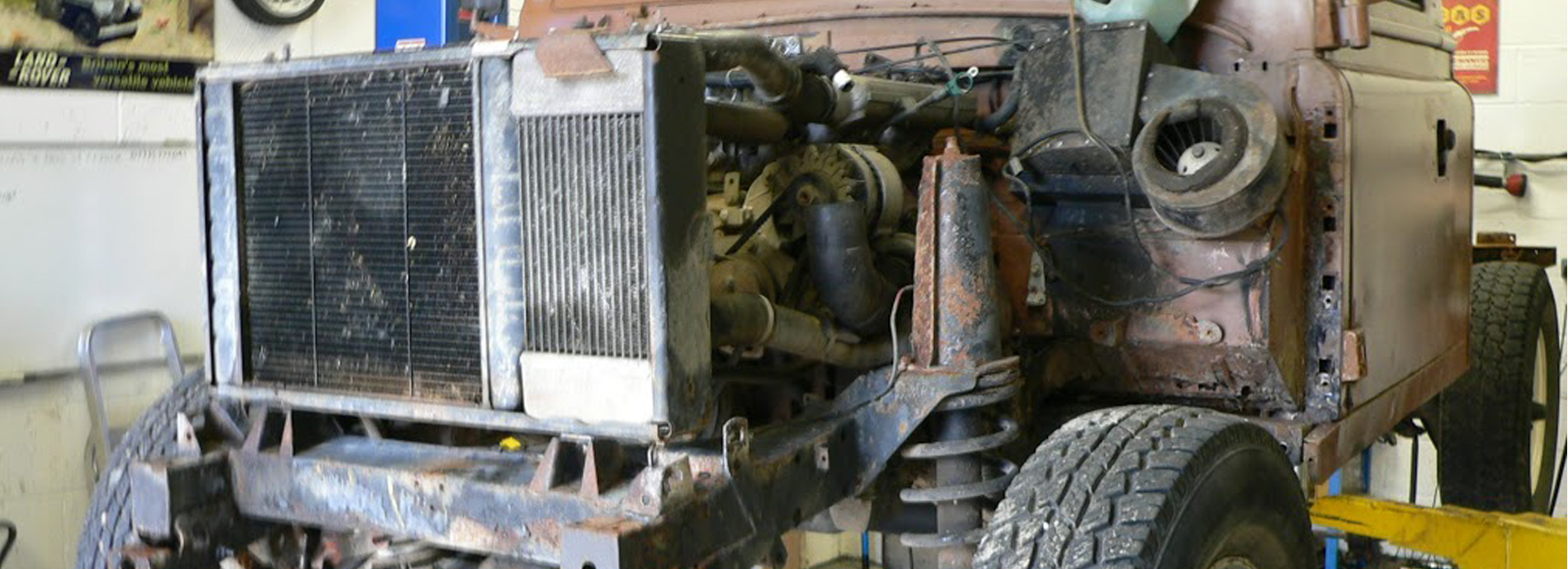 Restoring an old landrover